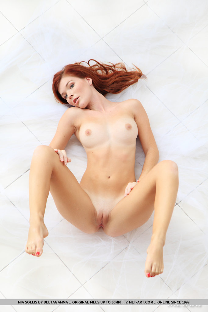 Amusing information Redhead with bare feet